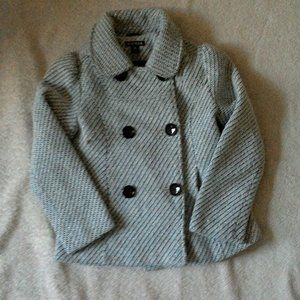 George Black/white Buttoned down Jacket